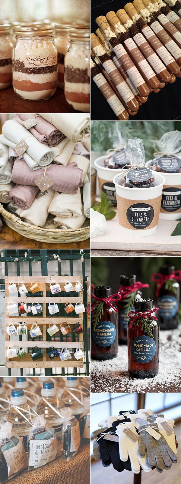wedding favor ideas for winter