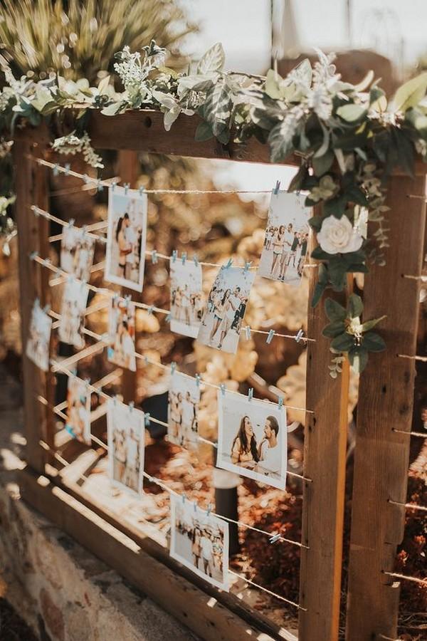 wedding photo display ideas with Polaroid