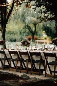wedding reception table ideas for a forest wedding