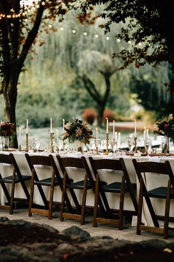 wedding reception table ideas for a forest wedding