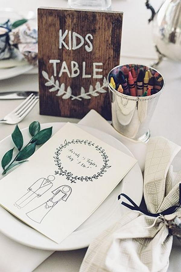 wedding table ideas for little ones