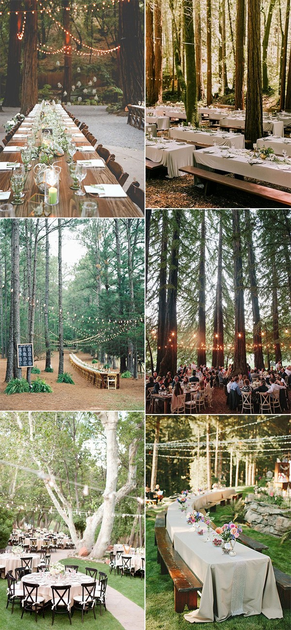 whimsical forest inspired wedding reception ideas