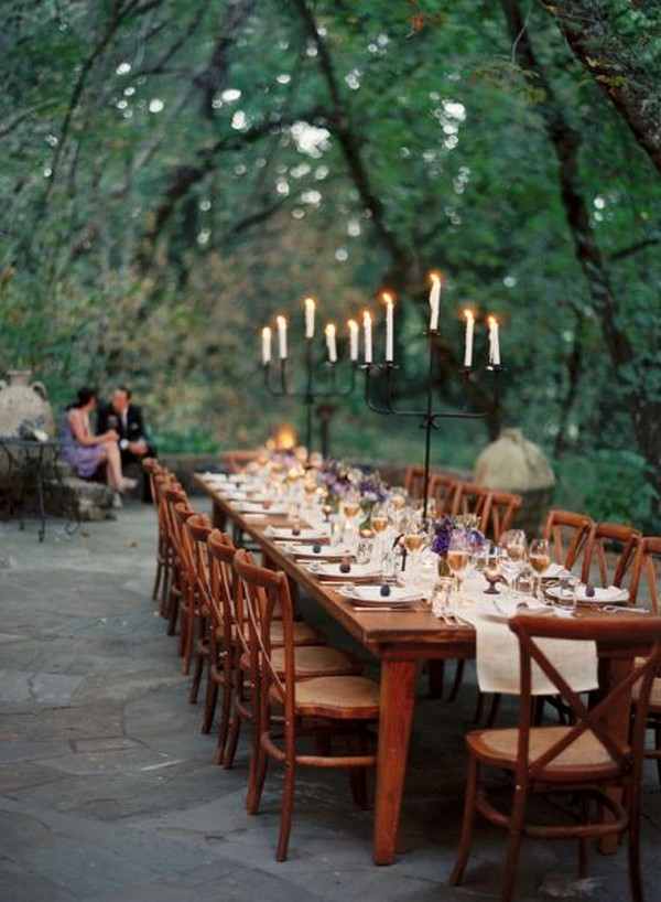 woodsy forest wedding reception ideas