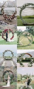 2019 trending circular wedding arch ideas