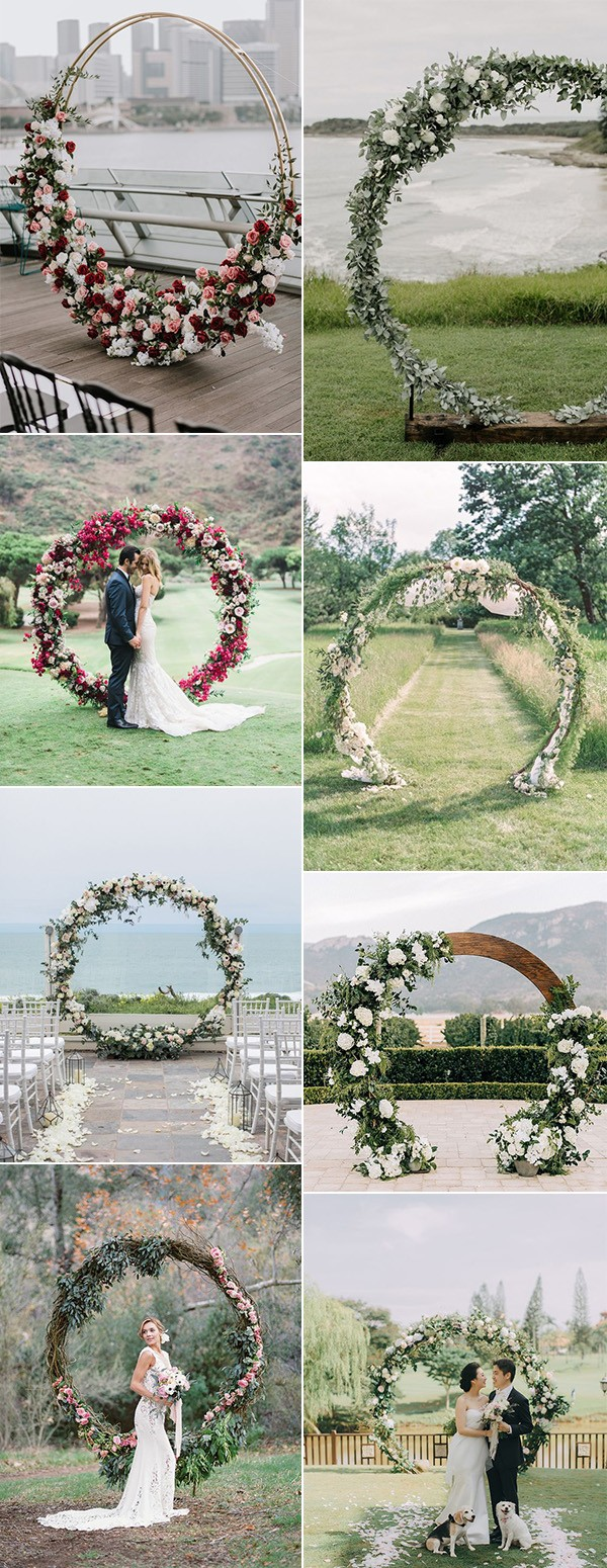 2019 trending circular wedding arch ideas