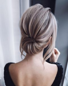 French classic updo wedding hairstyle