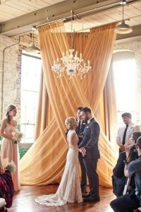 awesome indoor wedding ceremony backdrop ideas with drapery