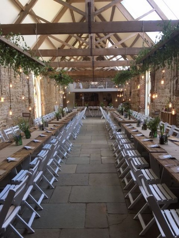 chic barn wedding reception ideas