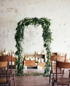 chic greenery wedding arch ideas