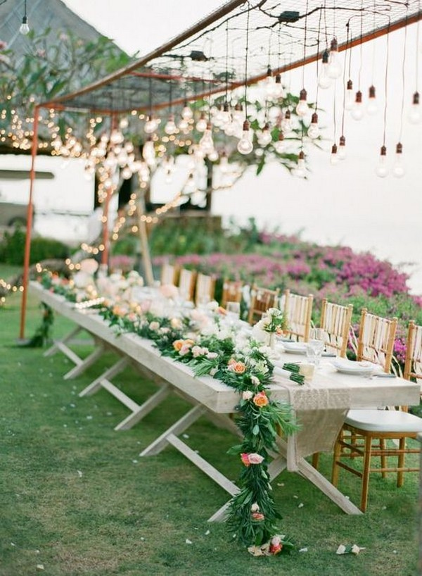 chic outdoor wedding reception decoration ideas
