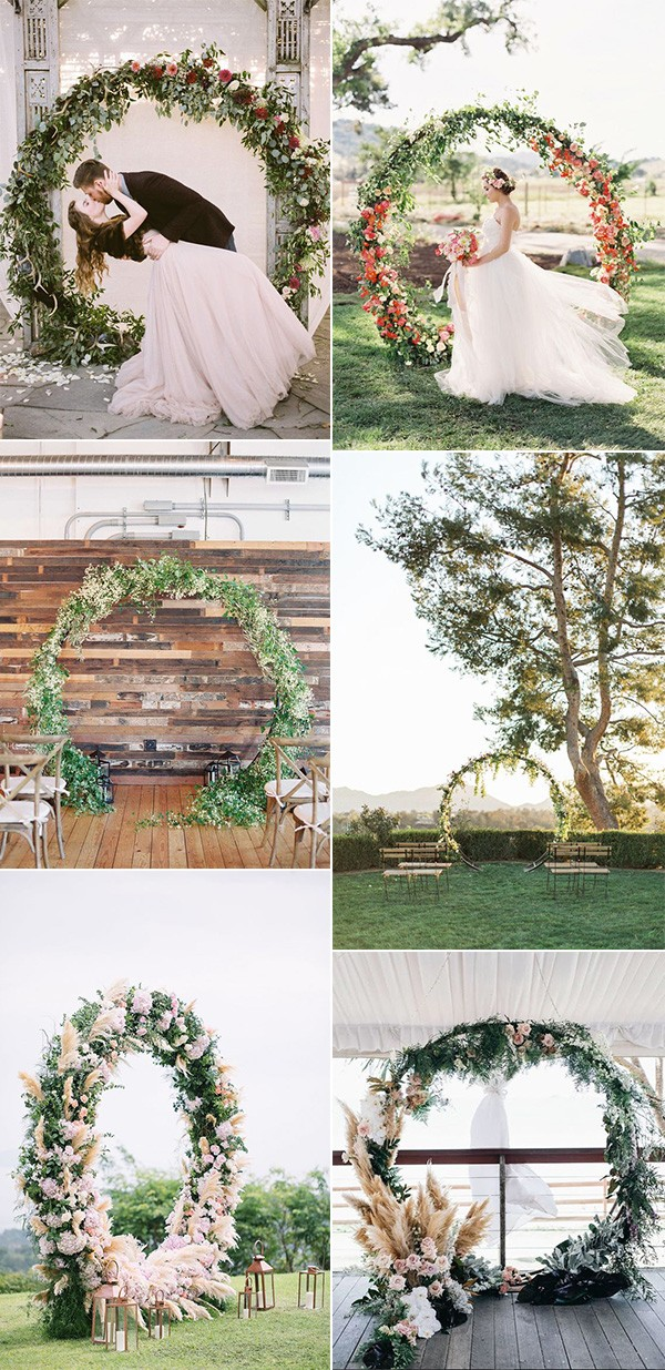 circular wedding arch decoration ideas for 2019 trends