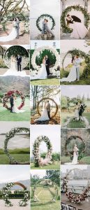 circular wedding arches for 2019 trends