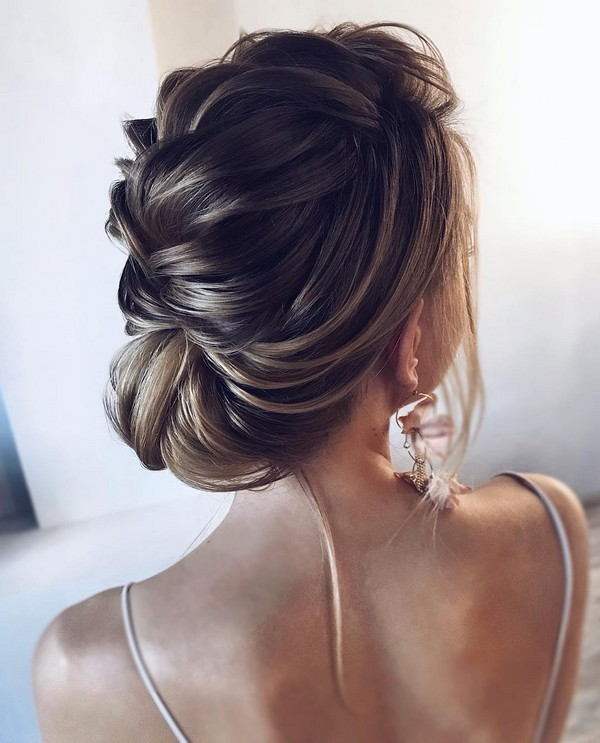 elegant braided updo wedding hairstyle