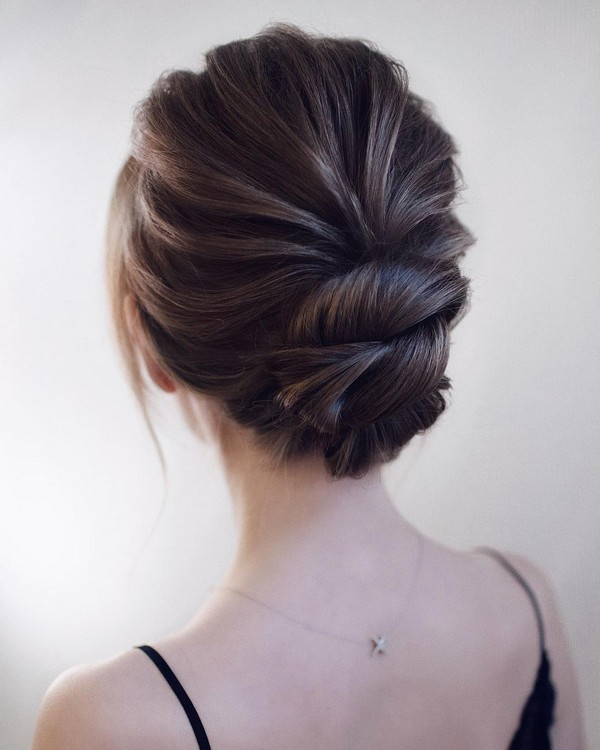 elegant twist bridal updos wedding hairstyle ideas