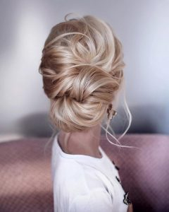 elegant twist updo wedding hairstyle