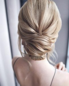 elegant updos wedding hairstyle