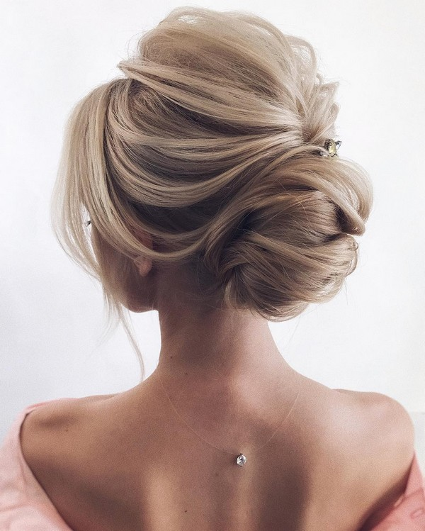 elegant wedding updo hairstyle ideas