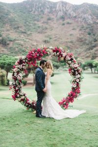 floral circular wedding ceremony arch ideas