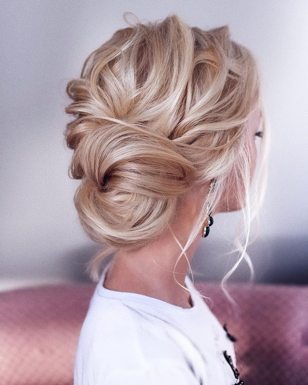 messy updos wedding hairstyle