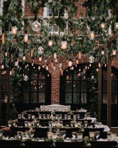 outdoor industrial wedding reception decoration ideas