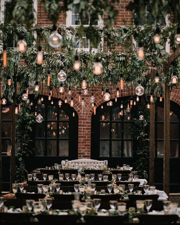 outdoor industrial wedding reception decoration ideas