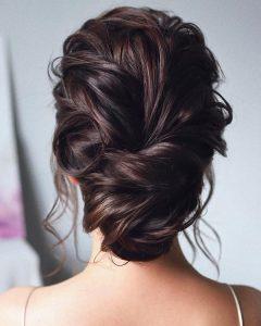 pretty updos wedding hairstyle ideas