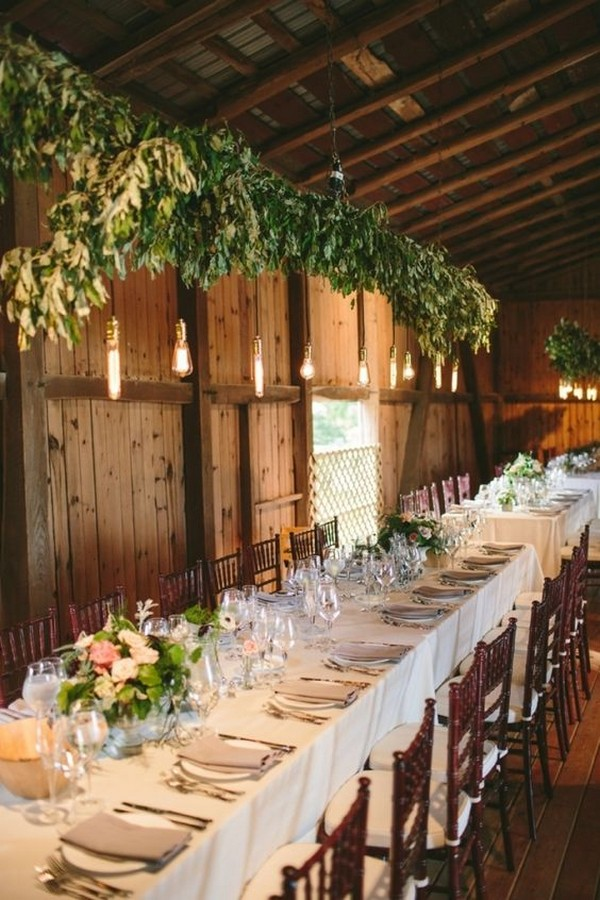 rustic barn wedding reception decoration ideas