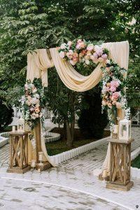 rustic vintage floral wedding ceremony decoration ideas