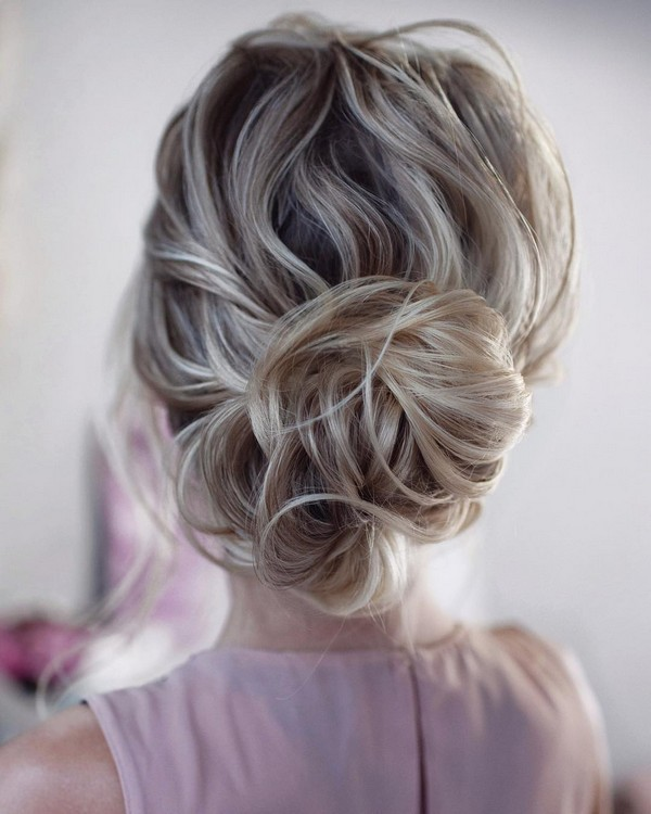 simple messy updo wedding hairstyles