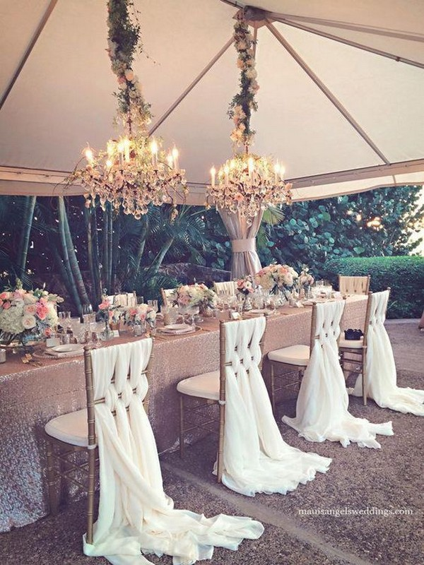 tented elegant wedding chair decoration ideas