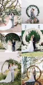 trending circular wedding arch ideas for 2019