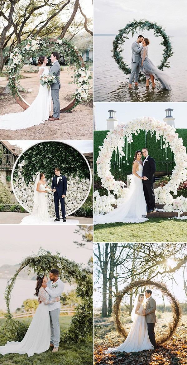 trending circular wedding arch ideas for 2019