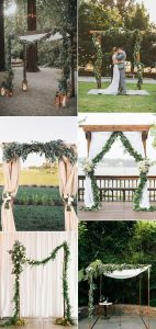 trending wedding arch decoration ideas with garlands