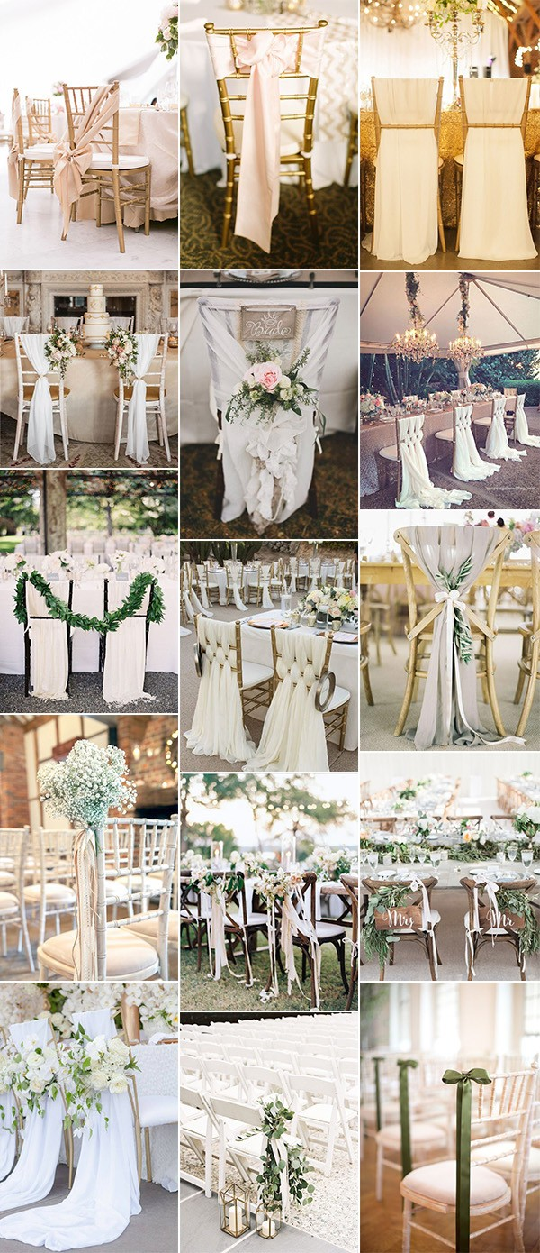 trending wedding chair decoration ideas