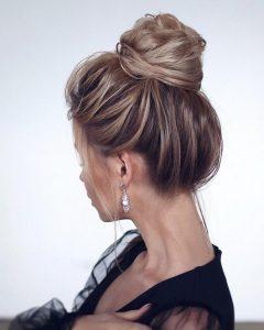wedding hairstyle ideas high bun