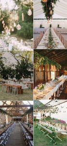 wedding reception ideas with hanging Edison bulbs