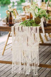 Macrame wedding table runner ideas
