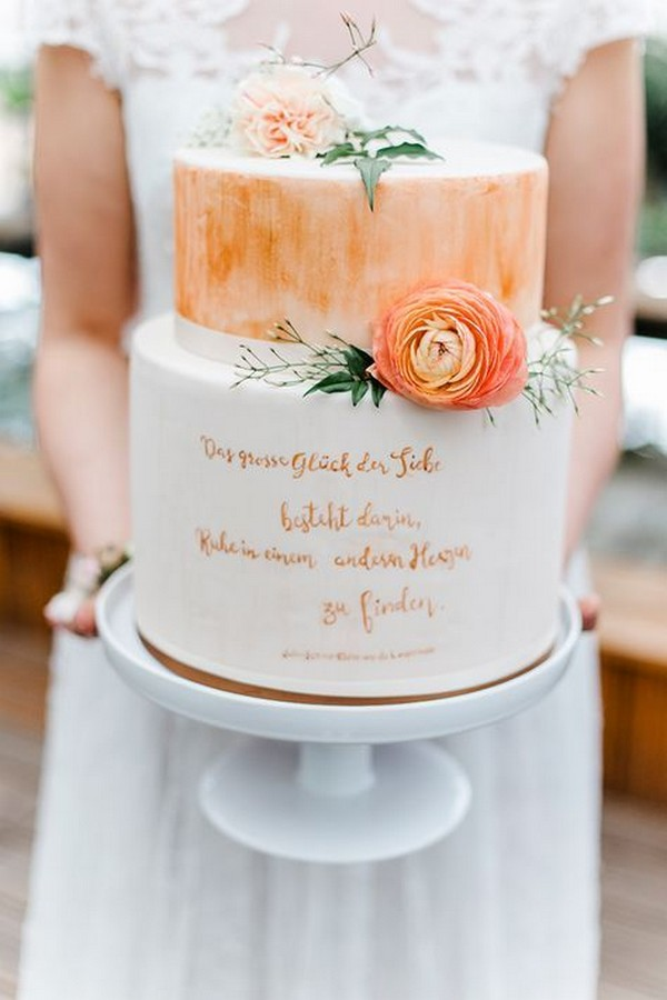 boho chic hand painted wedding cake