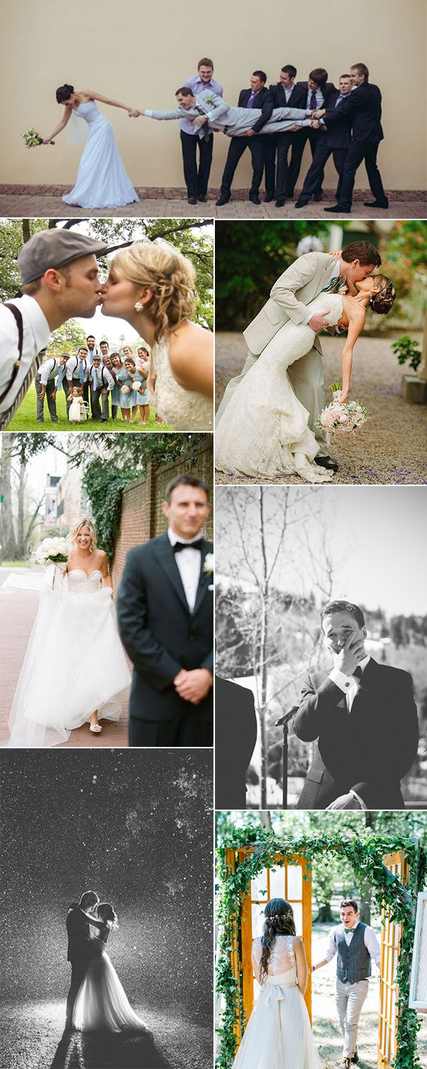 bride and groom wedding photos to love