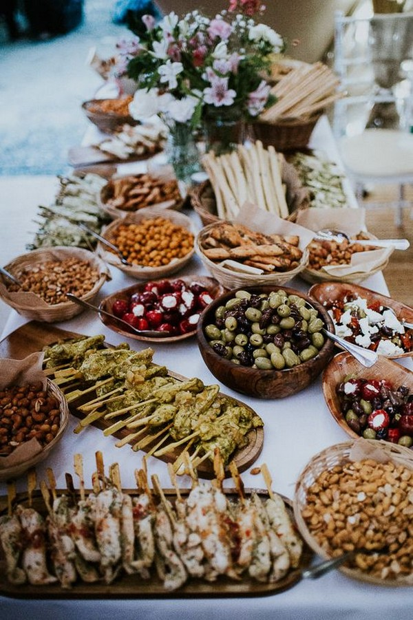 charcuterie table for wedding food ideas