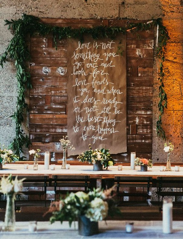 chic loft wedding reception decoration ideas