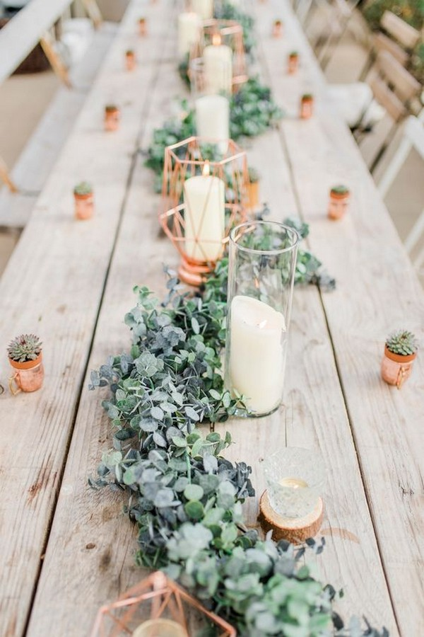 chic modern wedding table setting ideas