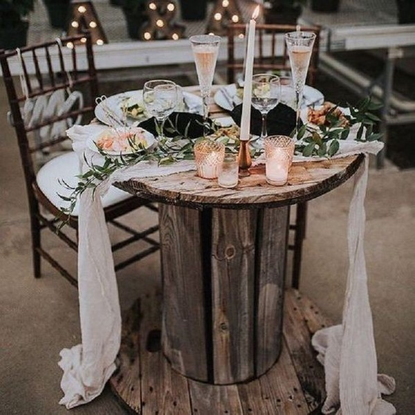 chic rustic wedding table setting ideas