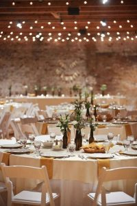 chic wedding reception decoration ideas with string lights