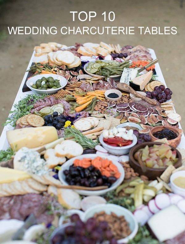 creative wedding charcuterie table ideas 2