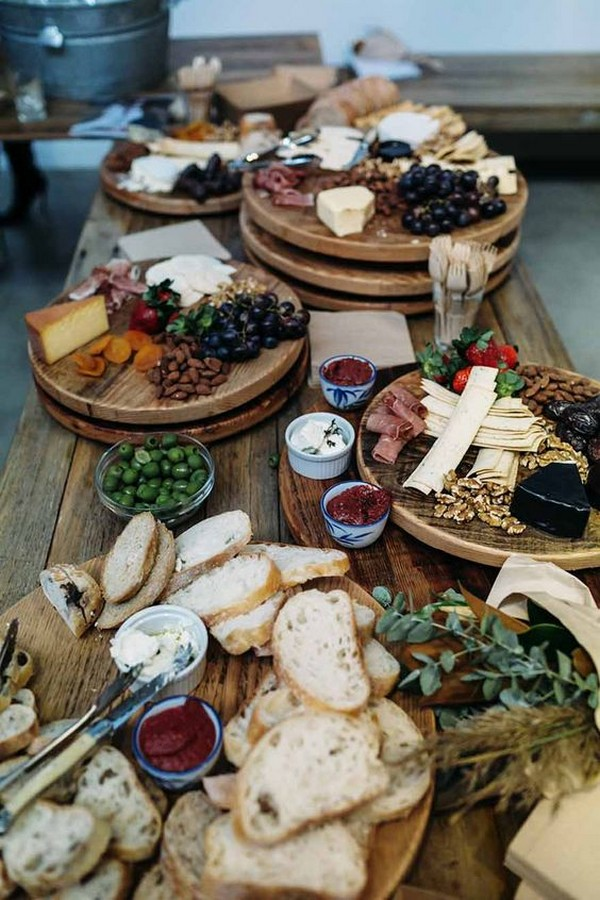 delicious wedding charcuterie table ideas