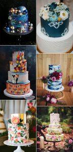 hand painted gorgeous wedding cake ideas