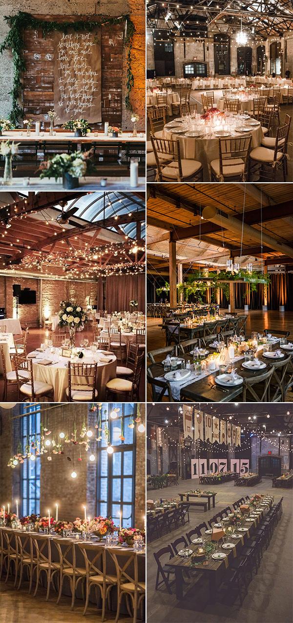 industrial loft wedding reception decoration ideas