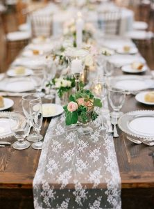 lace table runner for wedding reception setting ideas