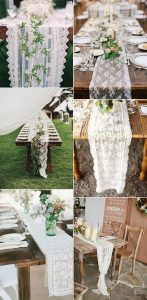 lace wedding table runner ideas for reception decorations